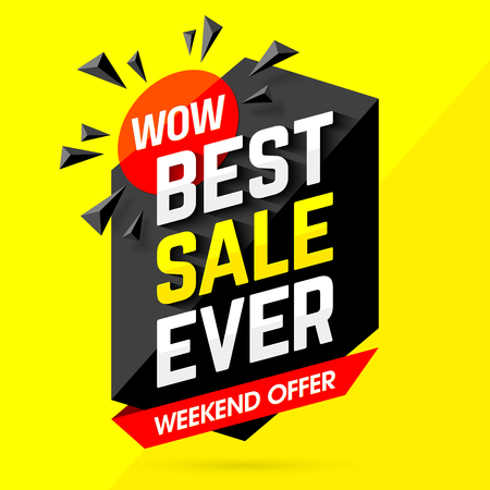 Wow! Best Sale Ever Weekend Offer banner Reklamní fotografie - 60571156