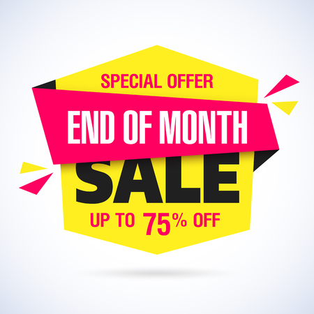 end: End of Month Sale banner. Month end sale, save up to 75% off.