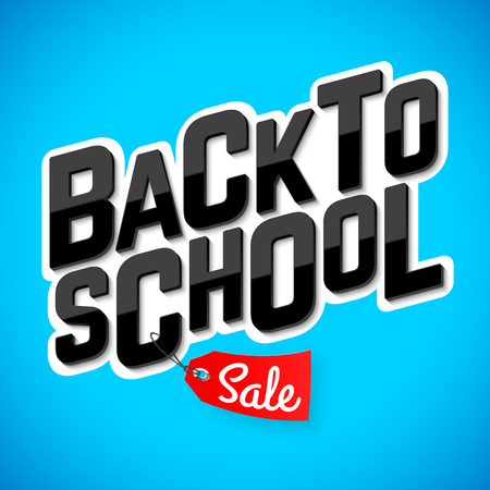 Back to school sale banner Иллюстрация