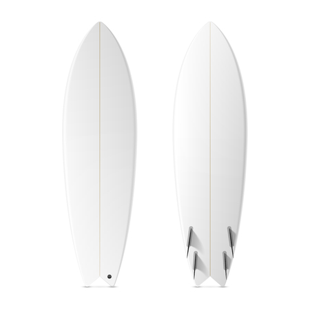 water wave: Blank surf fish board template