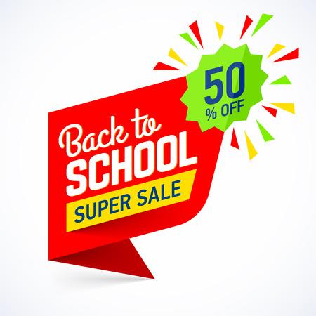Back to school sale banner  イラスト・ベクター素材