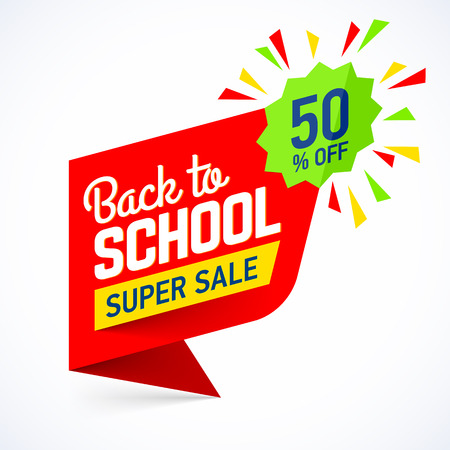 Back to school sale banner Illustration