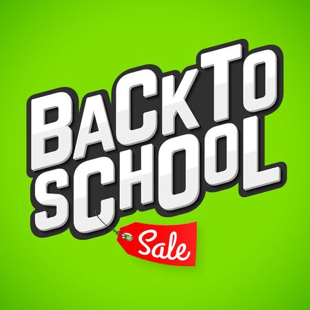 Back to school sale banner Иллюстрация