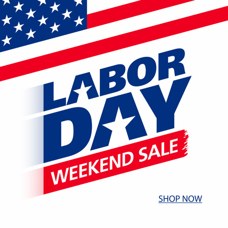 weekend: Labor Day Weekend Sale advertising banner design