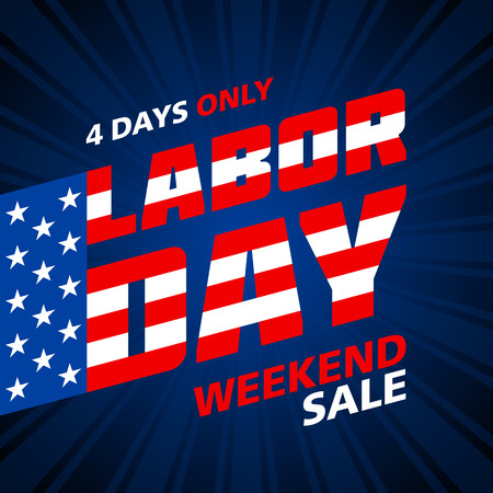 Labor Day Sale Design Weekend banner pubblicitari
