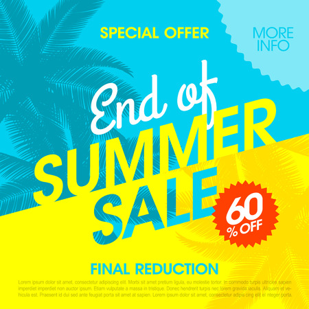 End Of Summer Sale Banner-Design-Vorlage Standard-Bild - 61124797