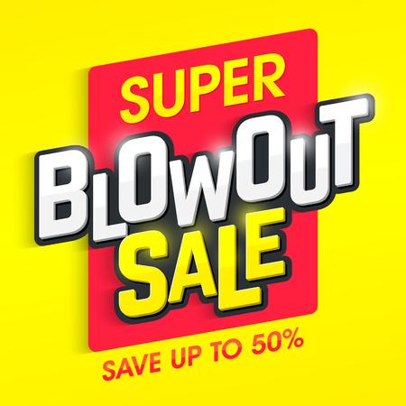スーパーのクリアランス セールのバナーです。特別オファー、大売り出し、50% までを保存します。  イラスト・ベクター素材