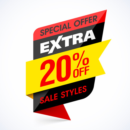Extra Sale banner, special offer, take an extra 20% off all sale style