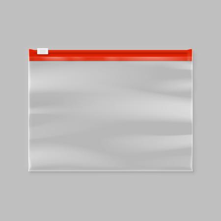 bolsa de corredera de cremallera de plástico transparente vacía