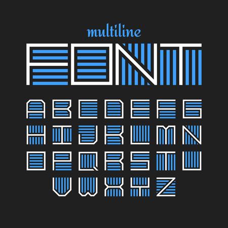 Multiline font, bold style Illustration