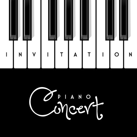 view: Piano concert invitation design template