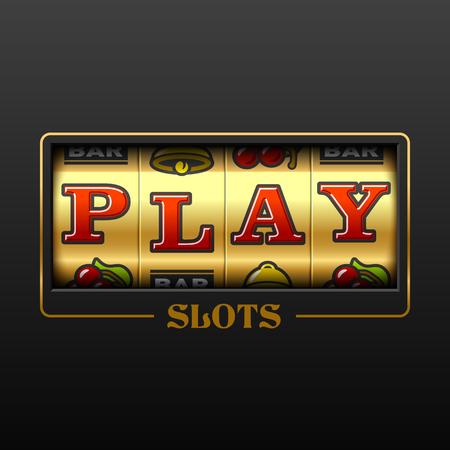 Play slot machine casino banner