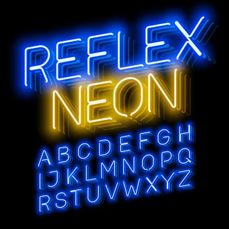 reverberation: Reflex Neon font