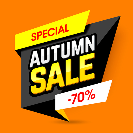 large: Special Autumn Sale banner template