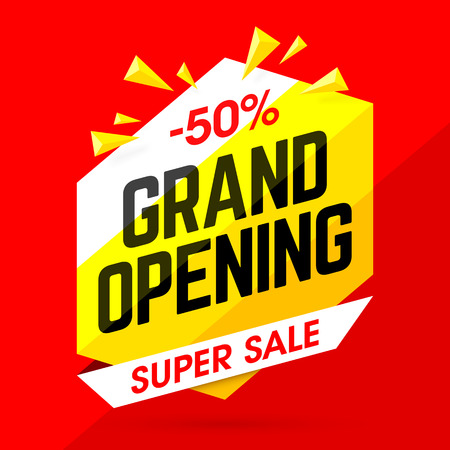 Grand Opening Super Sale banner
