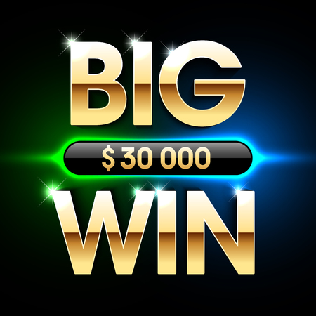 tragamonedas: Big Win banner background for lottery or casino games such as poker, roulette, slot machines or card games