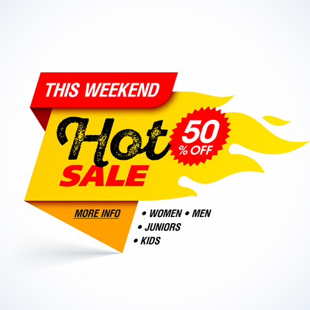 hot: Hot Sale banner, this weekend special offer.