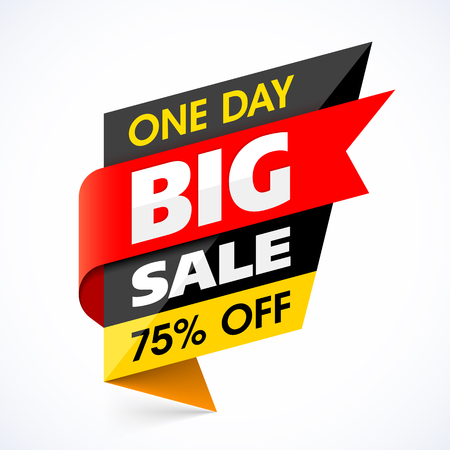 big sale: Big Sale banner. One day special offer.