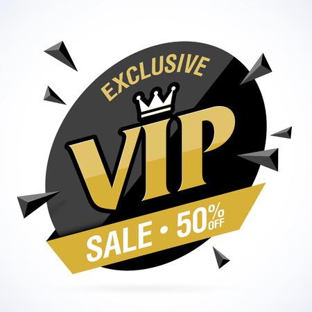 exclusive: Exclusive VIP Sale banner Illustration