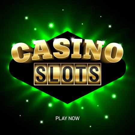 roulette: Slots Casino banner luminoso Vettoriali