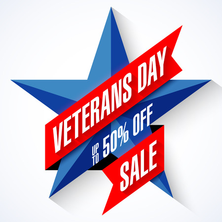 Veterans Day Sale banner Illustration