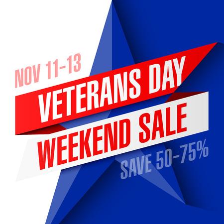 star Wars: Veterans Day Weekend Sale banner template Illustration