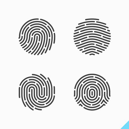 fingermark: fingerprint icon Illustration