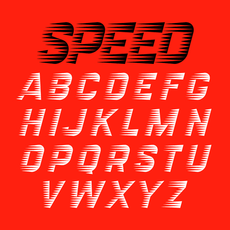 Speed style font Illustration