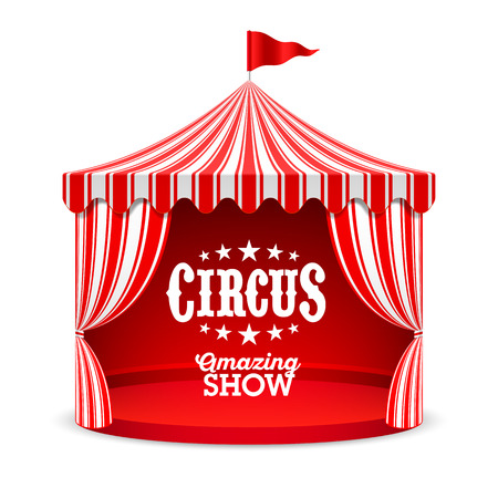 Amazing Circus Show poster background. Circus tent illustration.