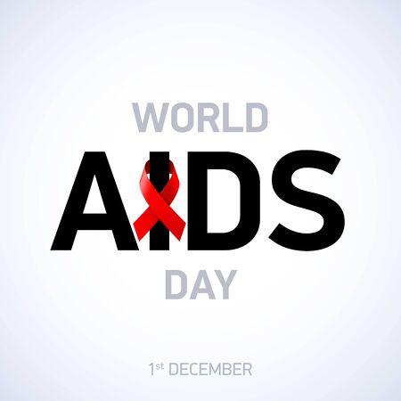 AIDS awareness. World AIDS Day, 1st December