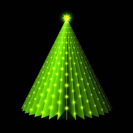 christmas greeting: Christmas tree greeting card