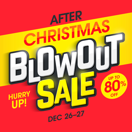 discount banner: After Christmas blowout sale banner
