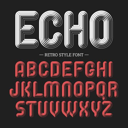 echo: Echo, retro style volume font