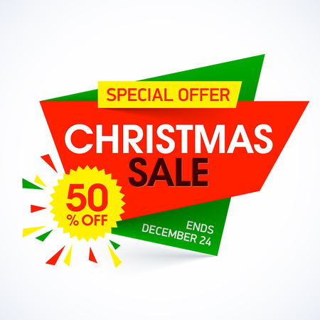 star: Christmas sale special offer banner