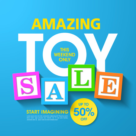 christmas celebration: Amazing toy sale banner