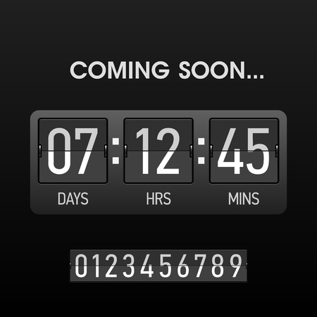 Coming soon countsown website timer template Illustration