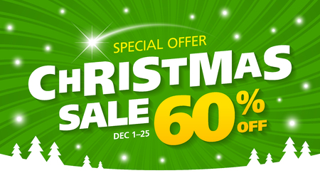 discount banner: Christmas Sale banner