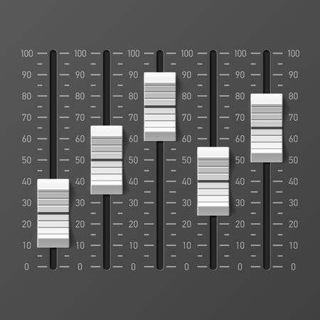console mixer audio, i pulsanti di scorrimento attrezzature dj