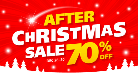 huge tree: After Christmas Sale banner