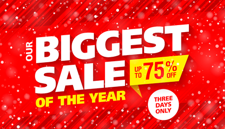 Biggest sale of the year banner Illustration