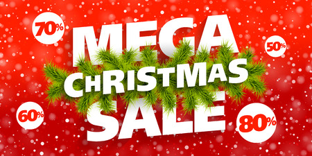 big: Mega Christmas Sale banner Illustration