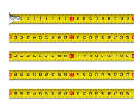 Tape measure vector illustration in centimeters Vettoriali