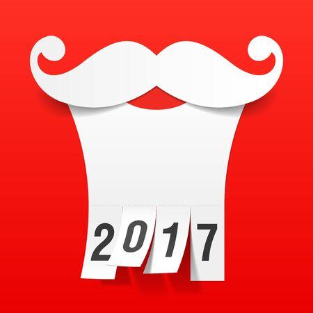 claus: Santa beard greeting card design element