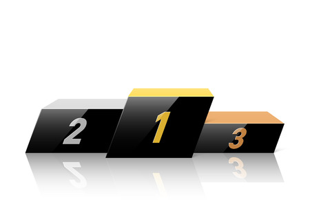 negro podio de ganadores