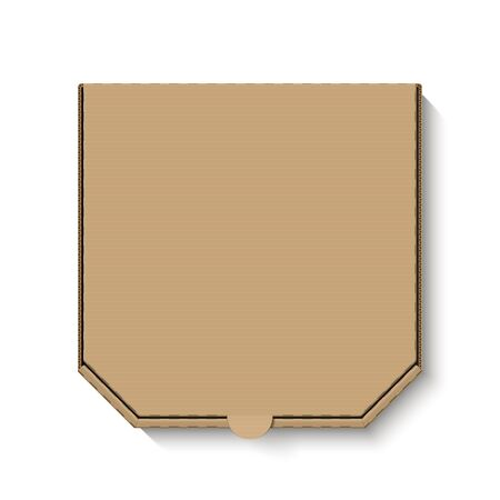 brown box: Blank brown cardboard pizza box for your design