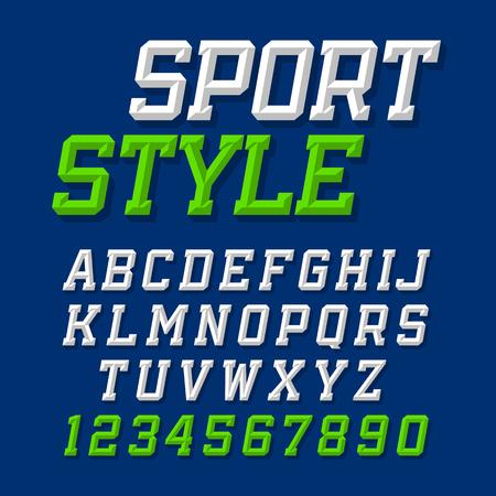Sport style retro font Vettoriali