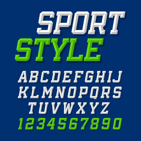 Sport style retro font Illustration