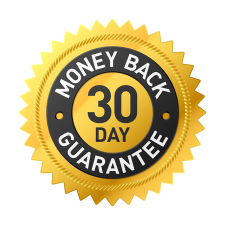 30 day money back guarantee label Ilustracja