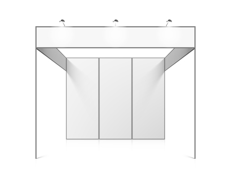 white: Blank white trade exhibition booth system stand