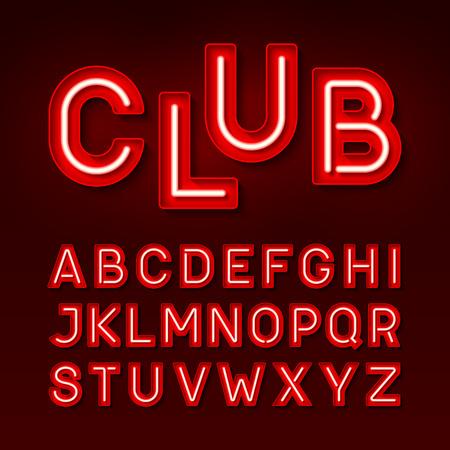Broadway night club vintage style neon font